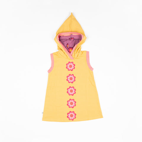 Image of Alba Trine Hood Dress - Bright Gold