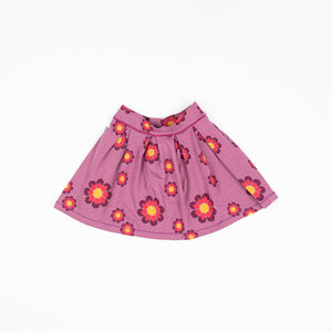 Alba Nelly Skirt - Bordeaux Flower Power