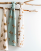 Image of Giant Bamboo Muslin Swaddle Blanket - Bow Tie Moose