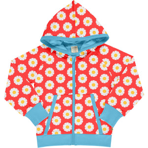 Maxomorra Hooded Cardigan - Daisy