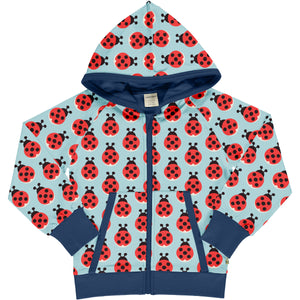 Maxomorra Hooded Cardigan - Lazy Ladybug