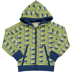 Maxomorra - Cardigan Hood Sweat - Car