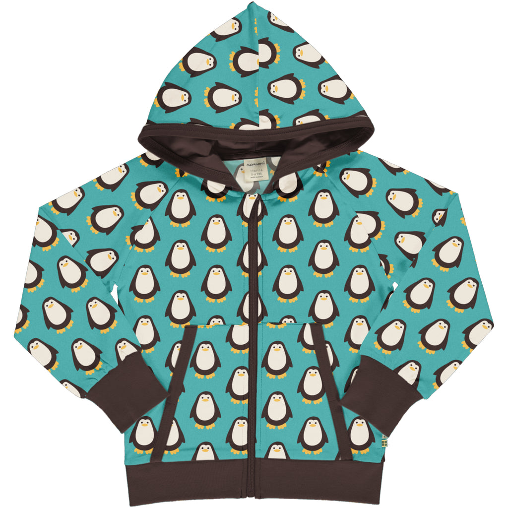 Maxomora Cardigan Hood Sweat - Penguin