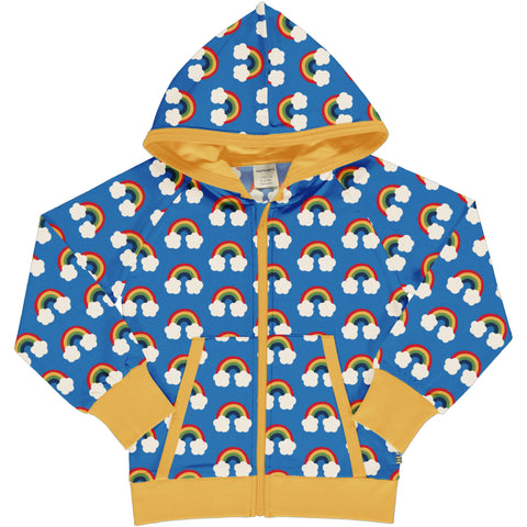 Maxomorra Cardigan Hood Sweat - Rainbow