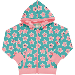 Maxomorra - Cardigan Hood Sweat - Starfish