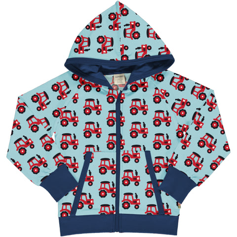Maxomorra Cardigan Hood Sweat - Tractor