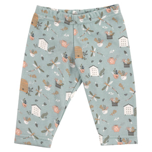 Pigeon Organics Country Garden Leggings - Dragonfly Blue