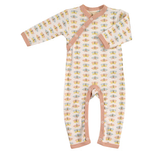 Pigeon Organics Country Garden Romper - Pink Butterfly