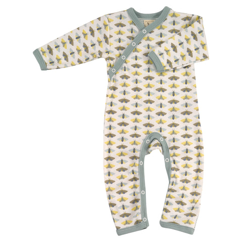 Image of Pigeon Organics Country Garden Romper - Blue Moth