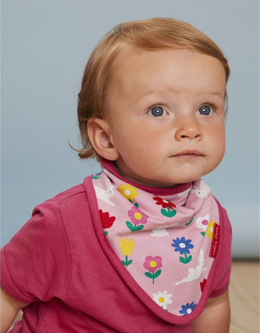 Image of Toby Tiger Bunny Print Dribble Bib