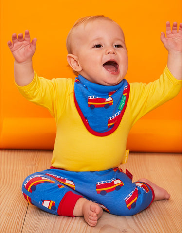 Image of Toby Tiger Fire Engine Print Print Dribble Bib