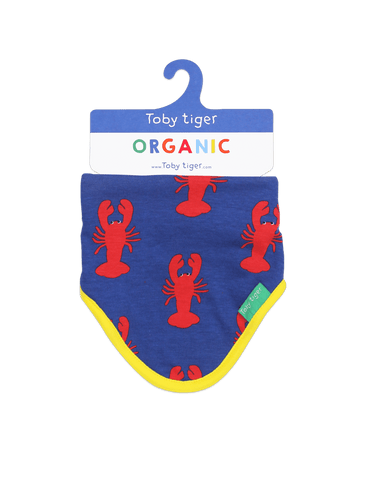 Image of Toby Tiger Lobster Print Dribble Bib