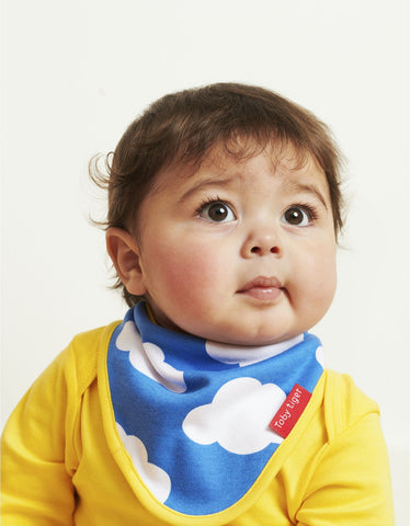 Toby Tiger Cloud Print Print Dribble Bib