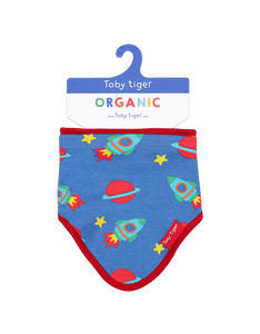 Toby Tiger Space Print Print Dribble Bib
