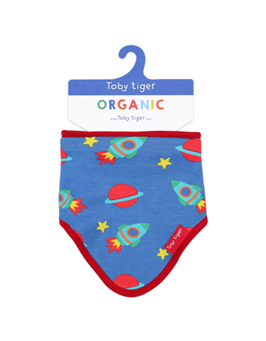 Image of Toby Tiger Space Print Print Dribble Bib