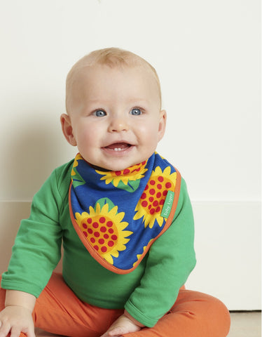 Image of Toby Tiger Sunflower Print Dribble Bib