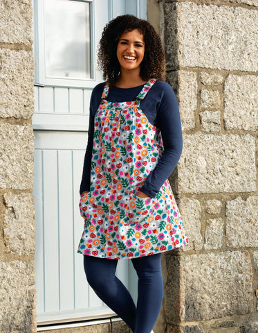 Image of Frugi Berry Cord Pinafore -Tin Roof Lost Words