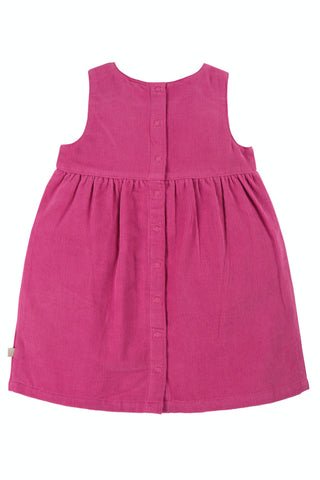 Image of Frugi Lily Cord Dress - Foxglove/Hedgehog