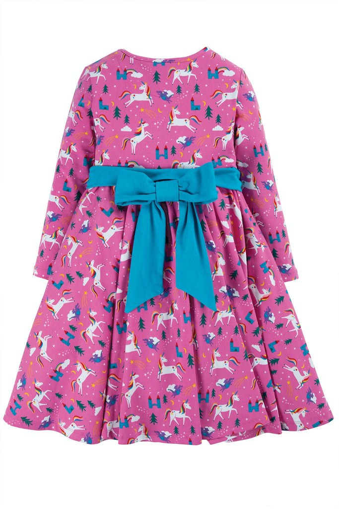 Frugi Party Skater Dress - Unicorns