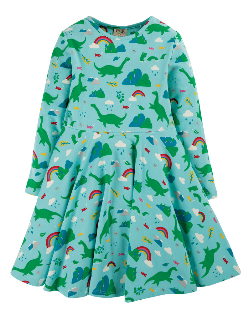 Frugi Sofia Skater Dress - Shore Blue Nessie