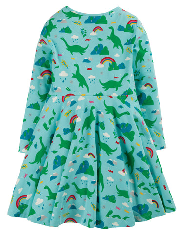 Image of Frugi Sofia Skater Dress - Shore Blue Nessie