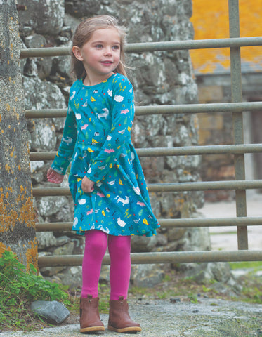 Image of Frugi Sofia Skater Dress - Farmyard