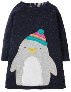 Frugi Peek A Boo Dress - Penguin Huddle/Penguin