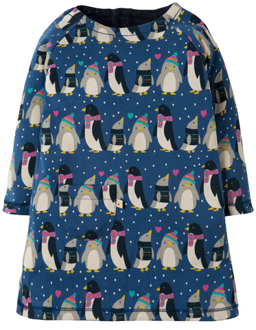 Image of Frugi Peek A Boo Dress - Penguin Huddle/Penguin - Tilly & Jasper