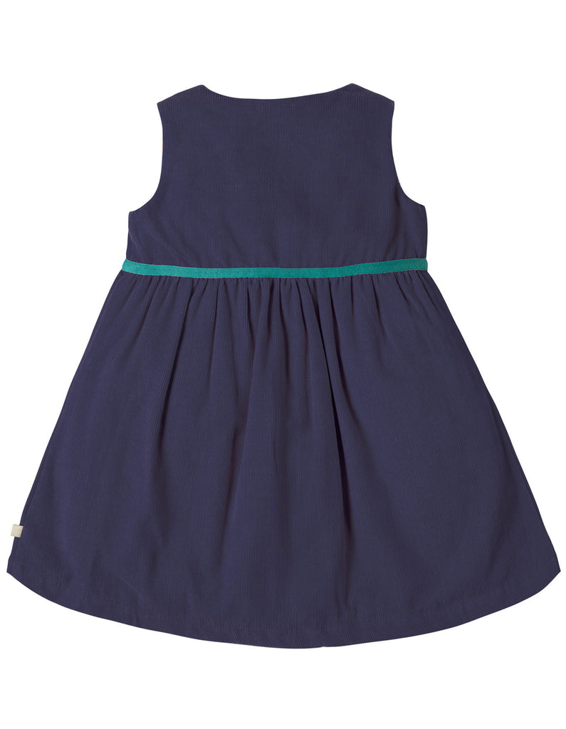 Frugi Peony Party Dress - Navy/Alpine Friend - Tilly & Jasper