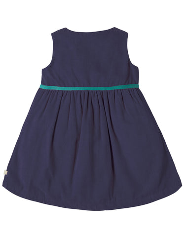 Frugi Peony Party Dress - Navy/Alpine Friend