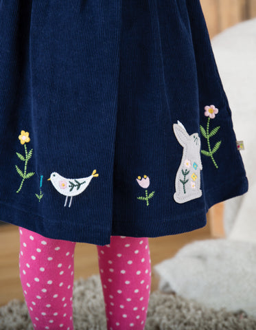 Image of Frugi Peony Party Dress - Navy/Alpine Friend - Tilly & Jasper