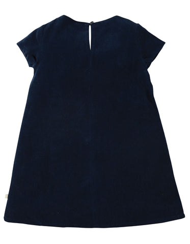 Image of Frugi Holly Cord Dress - Navy/Alpine Friend - Organic Cotton