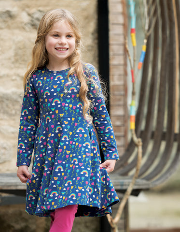 Image of Frugi Sofia Skater Dress - Perfect Day