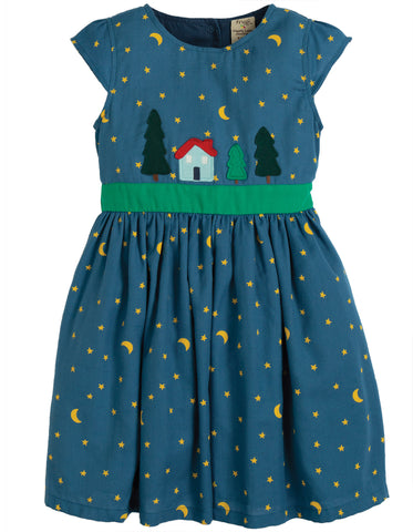 Image of Frugi Sparkle & Shine Dress - Moonlight/Christmas Town