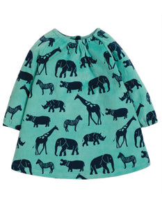 Frugi Vanessa Velour Dress - Savannah