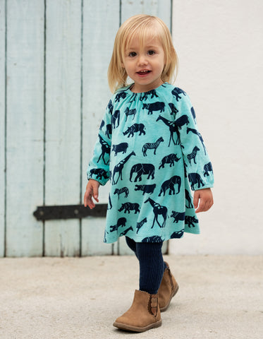 Image of Frugi Vanessa Velour Dress - Savannah