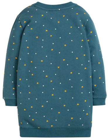 Image of Frugi Eloise Jumper Dress - Nightsky/Tractor - Tilly & Jasper