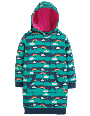 Frugi Harriet Hoody Dress - Above the Clouds