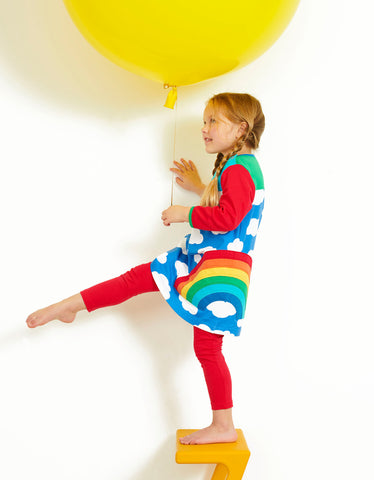 Toby Tiger Multi Rainbow Applique Dress