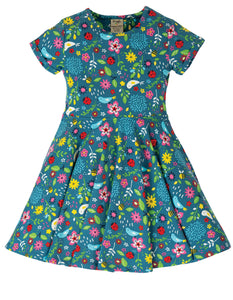 Frugi Spring Skater Dress - Garden Friends