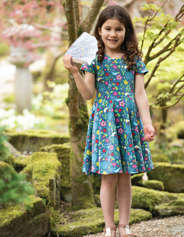 Image of Frugi Spring Skater Dress - Garden Friends
