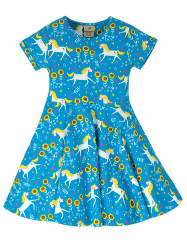Frugi Spring Skater Dress - Unicorn Skates