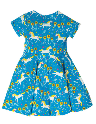 Image of Frugi Spring Skater Dress - Unicorn Skates