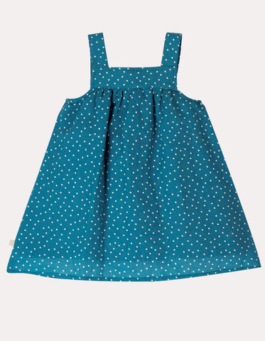 Image of Frugi Hallie Linen Dress - Steely Blue Scatter Spot/Bunny