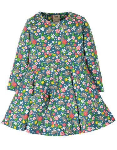 Image of Frugi Little Sofia Skater Dress - Rabbit Fields