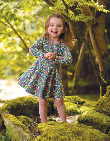 Frugi Little Sofia Skater Dress - Rabbit Fields