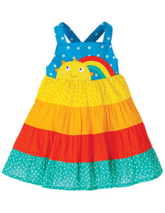 Frugi Mabli Sun Dress - Rainbow Hotchpotch