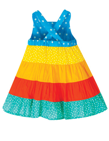 Image of Frugi Mabli Sun Dress - Rainbow Hotchpotch