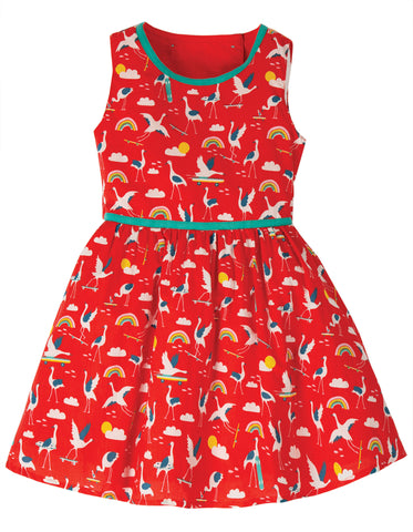 Image of Frugi Immy Woven Dress - Skateboarding Cranes