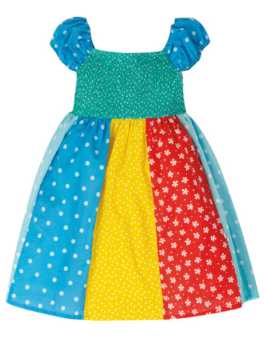 Image of Frugi Kiki Hotchpotch Dress - Rainbow Hotchpotch